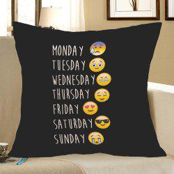Emoji Pattern Square Pillow Case