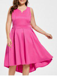 Sleeveless High Low Plus Size Dress