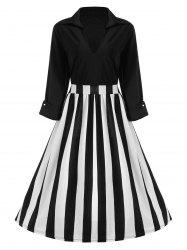 Striped Vintage Plus Size Dress