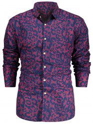 Allover Print Long Sleeve Shirt