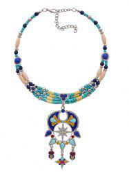 Statement Bib Beaded Teardrop Necklace