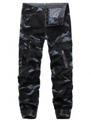 Camouflage Beam Feet Cargo Pants