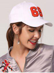 Patchwork Number Baseball Cap