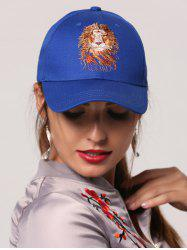 Lion Head Embroidered Baseball Cap