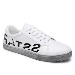 Graphic Faux Leather Sneakers