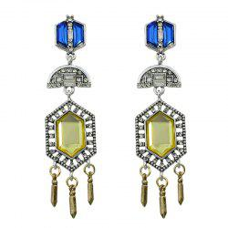 Faux Crystal Bullet Geometric Chandelier Earrings