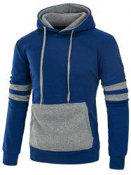 Varsity Stripe Color Block Panel Fleece Hoodie