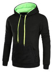 Drawstring Hooded Pullover Fleece Hoodie