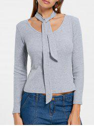 Choker Long Sleeves Knitted Top