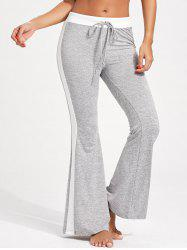 Drawstring Single Stripe Flare Pants