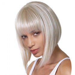Short Full Bang Glossy Straight Bob Synthetic Wig