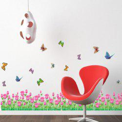 Tulip Butterfly Living Room Wall Decal