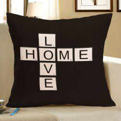 Love Home Printed Square Decorative Pillow Case