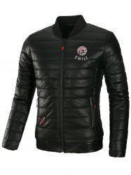 Appliques PU Leather Padded Jacket