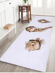 Larger Water Absorbent Through Wall Cats Bath Rug