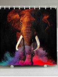 Waterproof Colorful Smog Elephant Printed Shower Curtain