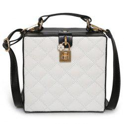 Box Shaped Quilted Crossbody Bag