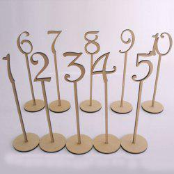 Wedding Birthday Wooden Table Numbers - IVORY YELLOW