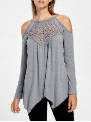 Open Shoulder Handkerchief Top