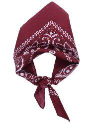 Square Scarf with Paisley Print -