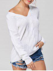 Casual V-neck Knit Sweater -