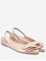 Slingback Toothed Edge Flat Shoes -