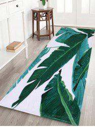 Indoor Outdoor Watercolor Leaves Pattern Area Rug -