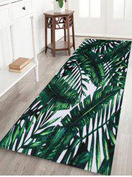 Leaves Large Size Coral Velvet Area Rug -