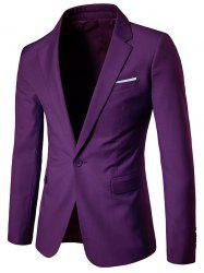 Chest Pocket One Button Business Blazer -