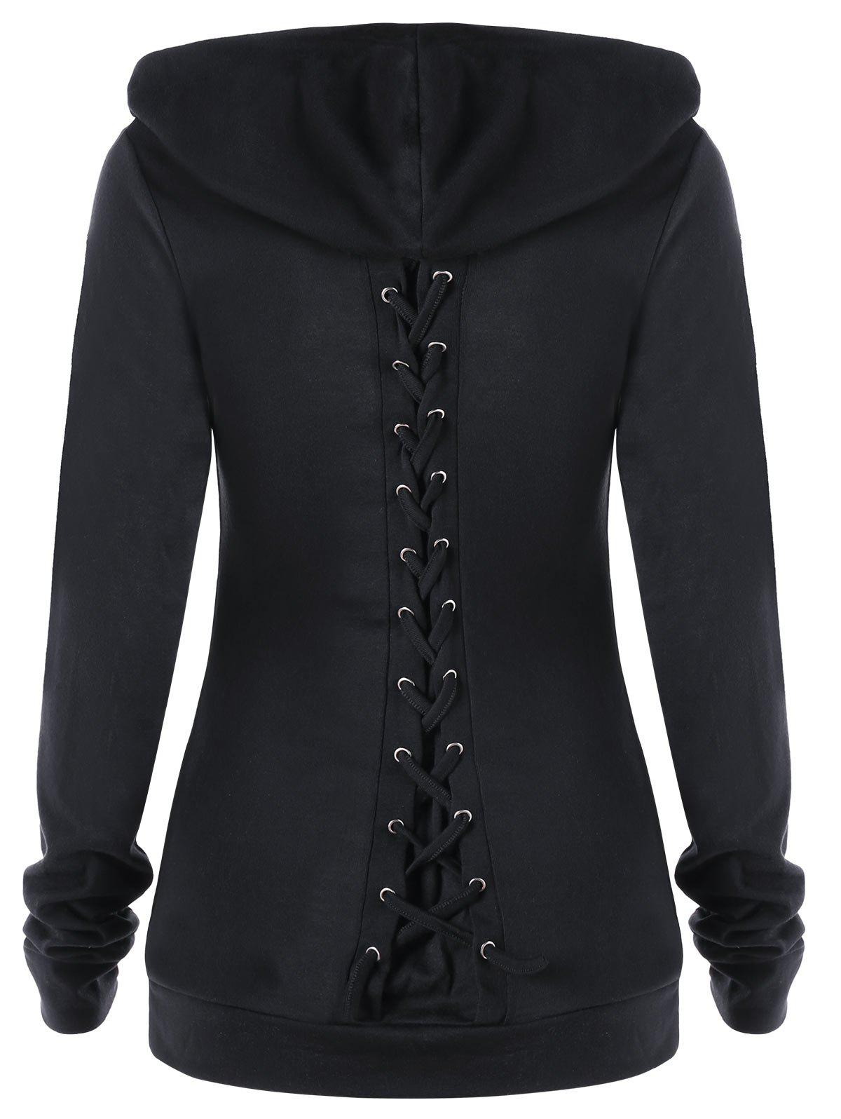 Lace up hoodies