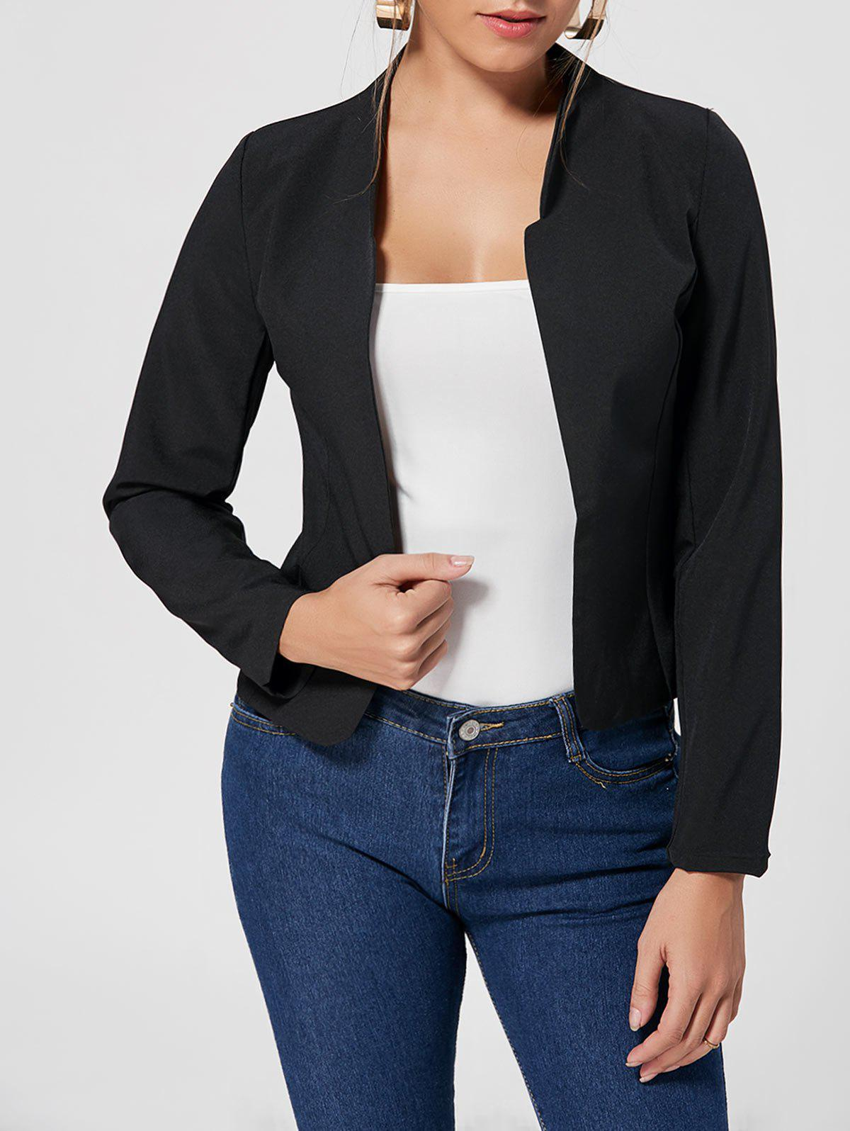 Discount Long Sleeve Cropped Blazer