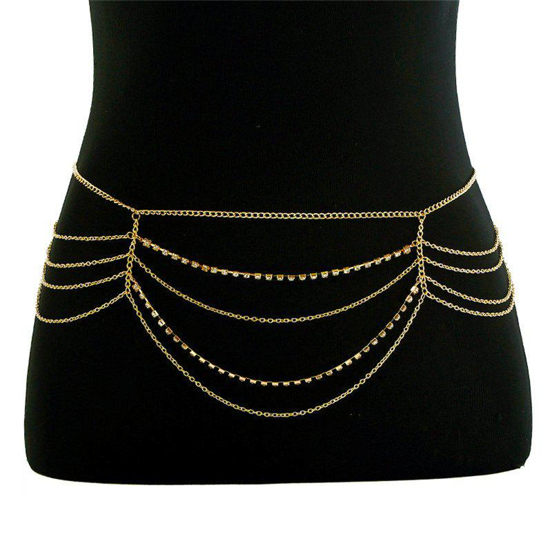 Outfits Fringed Rhinestone Belly Body Chain