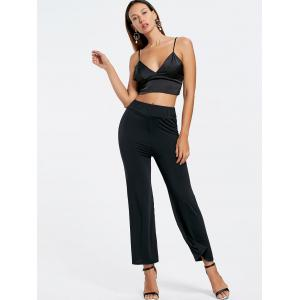 High Waisted Ninth Wide Leg Pants -