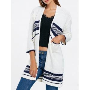 Open Front Pockets Knit Cardigan