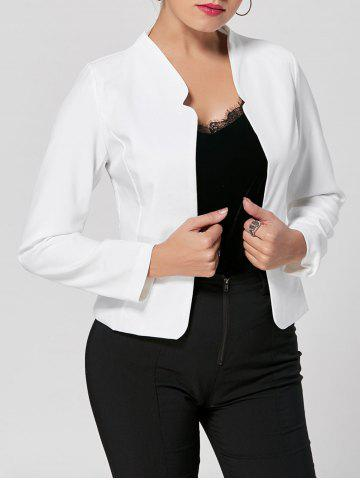 Chic Long Sleeve Cropped Blazer - L WHITE Mobile
