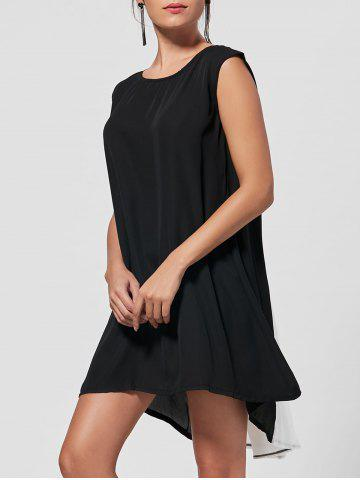 High Low Color Block Mini Short Swing Dress