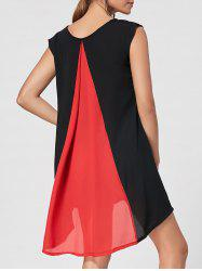 High Low Color Block Mini Swing Dress