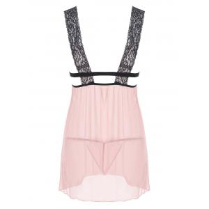 Lingerie Plunge Mesh Sheer Babydoll - COMPLEXION S
