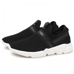 Elastic Band Hollow Out Slip On Casual Shoes -