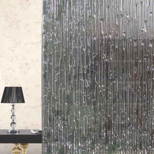 Electrostatique Rain Pattern Window Glass Wall Sticker - Blanc Clair