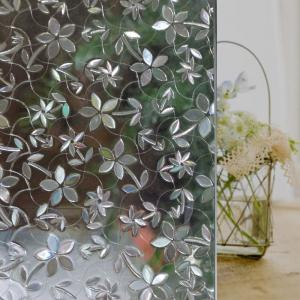 Flower PVC Electrostatic Glass Window Wall Sticker -