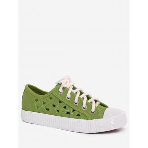 Hollow Out Canvas Athletic Shoes