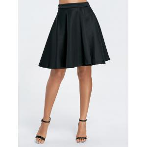 Stylish Solid Color Flare Skirt For Women -