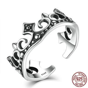 Crown Sterling Silver Cuff Ring