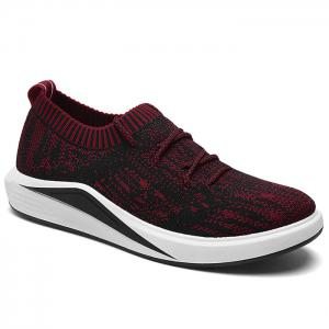 Flyknit Lace Up Casual Shoes - Red - 40