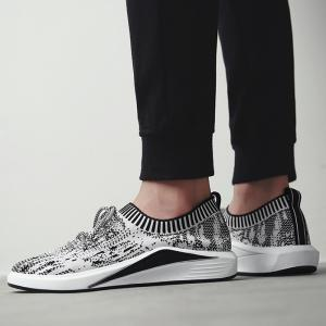 Flyknit Lace Up Casual Shoes - Gris 41