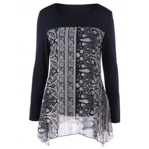 Paisley Print Flowy Tunic Top