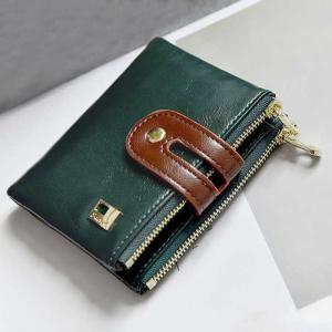 Faux Leather Color Block Bifold Wallets -