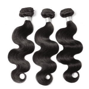 3Pcs / Lot 5A Partie sans remy Plein corps Wave Indian Indian Human Hair Weave - Naturel Noir 12pouces*14pouces*16