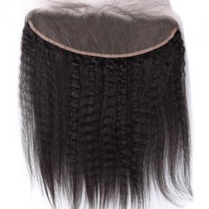 3Pcs/Lot 5A Remy Long Free Part Kinky Straight Indian Human Hair Weaves - NATURAL BLACK 16INCH*18INCH*20INCH